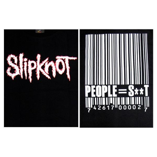 【メール便送料無料】Slipknot スリップノット バンドTシャツ 半袖 BG-0009-BK Slipknot BAND LOGO TEE バンドロゴ 半袖Tシャツ gb-int 04