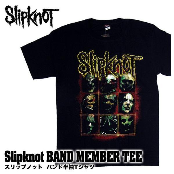 【メール便送料無料】Slipknot スリップノット バンドTシャツ 半袖 BG-0010-BK Slipknot MEMBER TEE メンバー 半袖Tシャツ gb-int