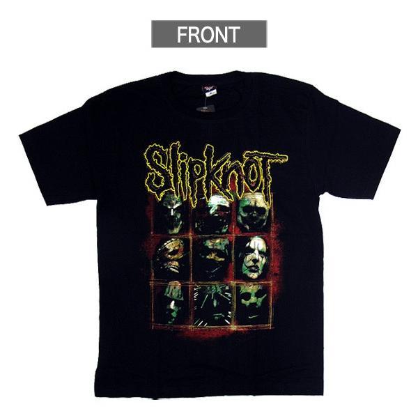 【メール便送料無料】Slipknot スリップノット バンドTシャツ 半袖 BG-0010-BK Slipknot MEMBER TEE メンバー 半袖Tシャツ gb-int 02
