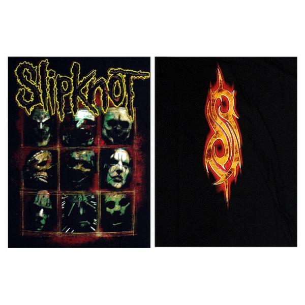 【メール便送料無料】Slipknot スリップノット バンドTシャツ 半袖 BG-0010-BK Slipknot MEMBER TEE メンバー 半袖Tシャツ gb-int 04