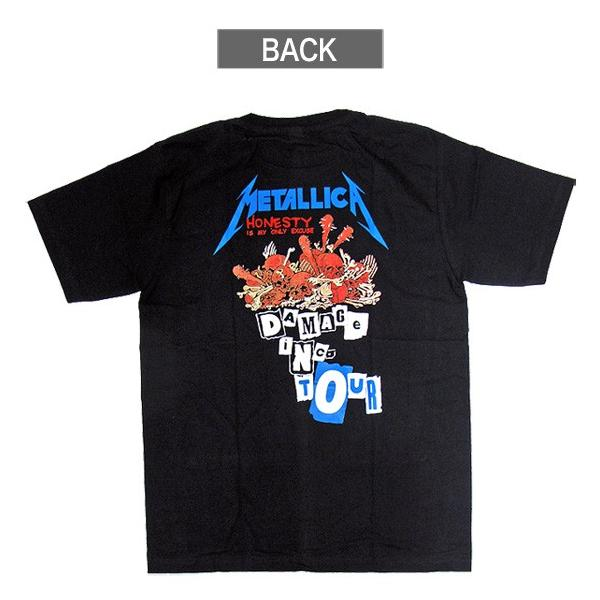 【メール便送料無料】METALLICA メタリカ バンドTシャツ 半袖 BG-0013-BK DAMAGE INC TOUR TEE 半袖Tシャツ|gb-int|03