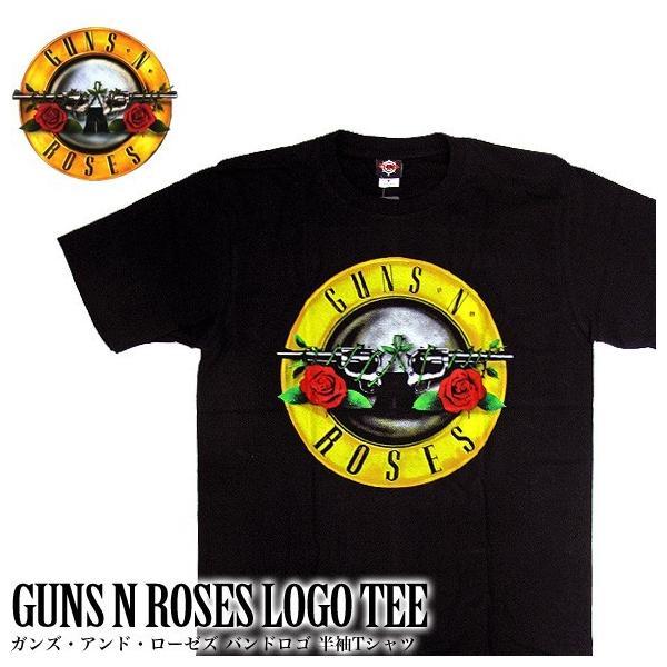 【メール便送料無料】GUNS N'ROSES ガンズ・アンド・ローゼズ バンドTシャツ 半袖 BG-0016-BK BAND LOGO TEE 半袖Tシャツ gb-int
