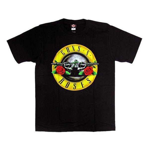 【メール便送料無料】GUNS N'ROSES ガンズ・アンド・ローゼズ バンドTシャツ 半袖 BG-0016-BK BAND LOGO TEE 半袖Tシャツ gb-int 02