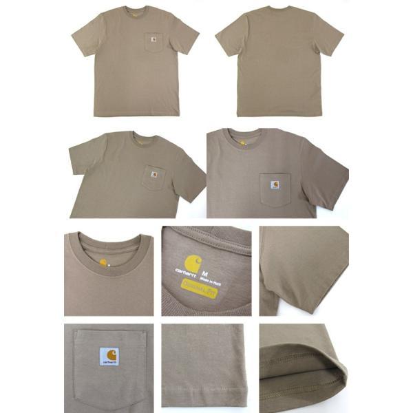 カーハート Carhartt K87 ワークウェア ポケット付きTシャツ 半袖 ミッドウェイト(メール便可) gb-int 02