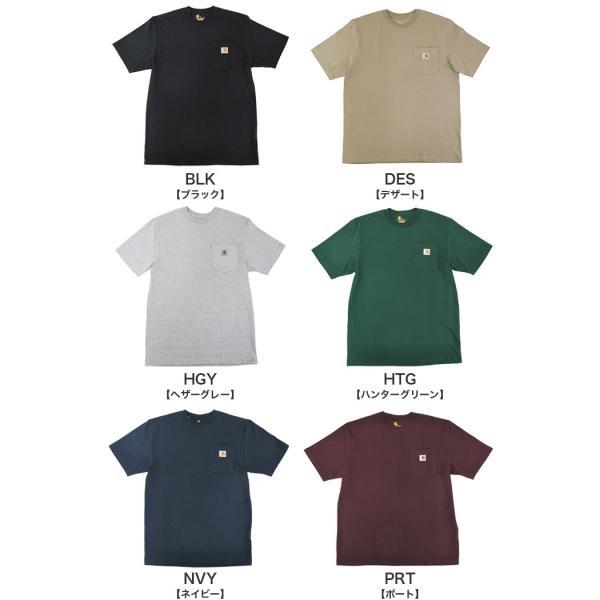 カーハート Carhartt K87 ワークウェア ポケット付きTシャツ 半袖 ミッドウェイト(メール便可) gb-int 04