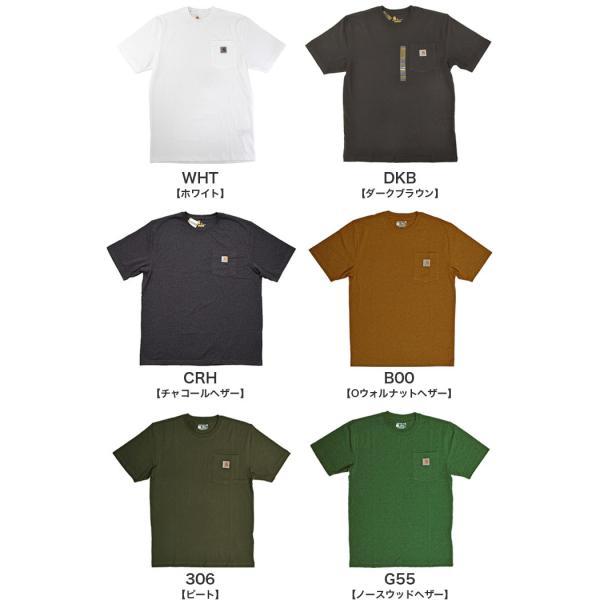 カーハート Carhartt K87 ワークウェア ポケット付きTシャツ 半袖 ミッドウェイト(メール便可) gb-int 05