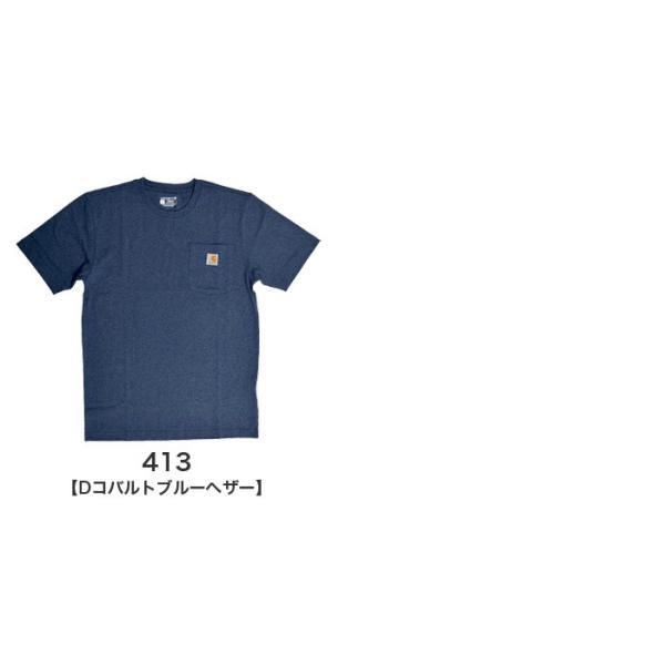 カーハート Carhartt K87 ワークウェア ポケット付きTシャツ 半袖 ミッドウェイト(メール便可) gb-int 06