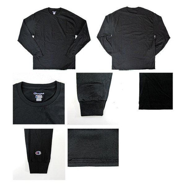 チャンピオン Champion Tシャツ CC8C クルーネック 無地 長袖 USAモデル 5.2 oz Long Sleeve Tee (メール便対応)|gb-int|02