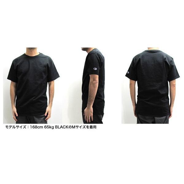 チャンピオン Champion Tシャツ クルーネック 無地 半袖 USAモデル  6.1 oz Short Sleeve Tee (メール便対応)|gb-int|04