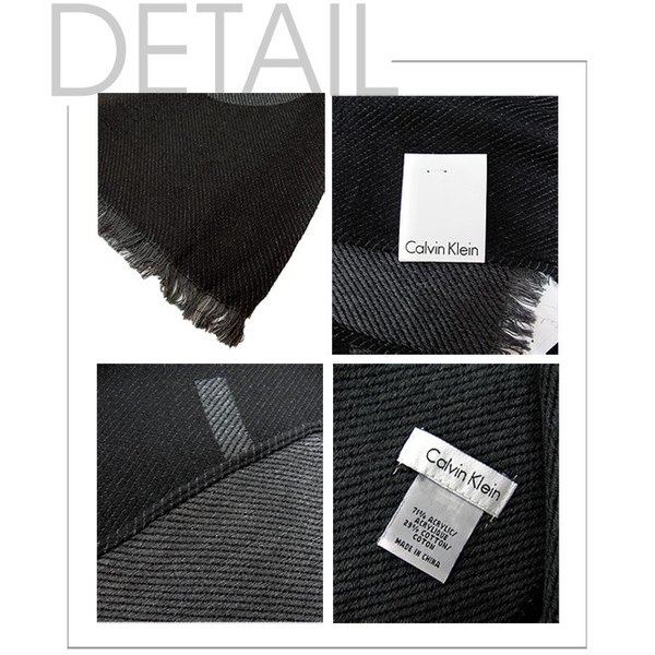 Calvin Klein カルバンクライン ツイル織 ロゴ スカーフ マフラー HKC73621 WOVEN TWILL LOGO SCARF|gb-int|02