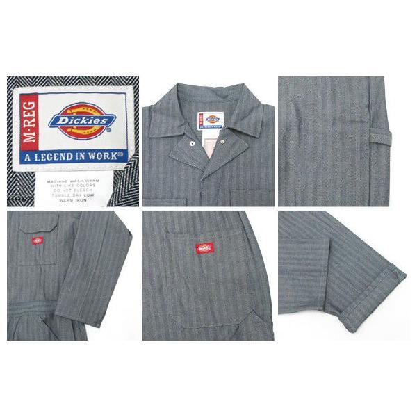 ディッキーズ つなぎ 長袖 4897 フィッシャーストライプ Dickies 作業服|gb-int|02
