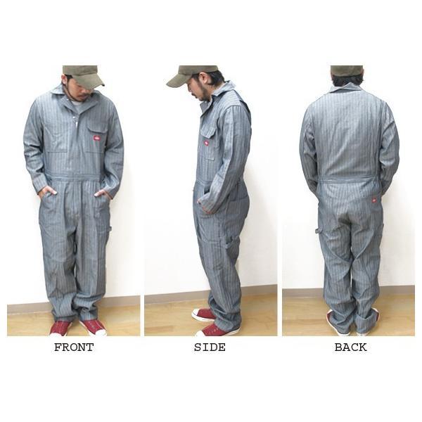 ディッキーズ つなぎ 長袖 4897 フィッシャーストライプ Dickies 作業服|gb-int|05