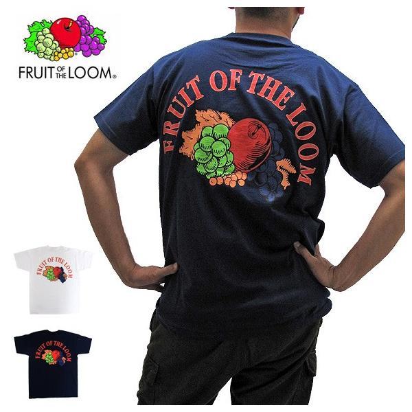 メール便送料無料 FRUIT OF THE LOOM フルーツオブザルーム 0122-513FL6 バックプリントロゴ クルーネック Tシャツ|gb-int