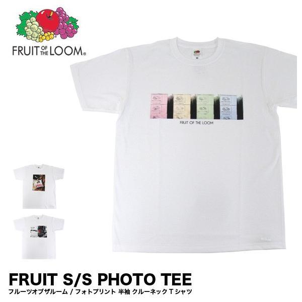 メール便送料無料 FRUIT OF THE LOOM フルーツオブザルーム 0122-513FLPH フォト プリント 半袖 Tシャツ gb-int