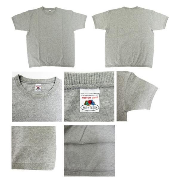 FRUIT OF THE LOOM フルーツオブザルーム リブ付き半袖Tシャツ 無地 クルーネックTシャツ 022-003(メール便対応) gb-int 02