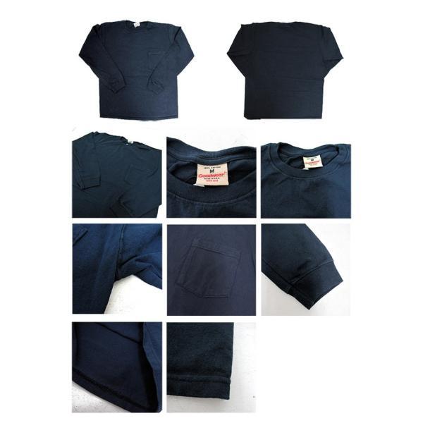 GOODWEAR グッドウェア 長袖 ポケット付きTシャツ 無地(メール便不可)|gb-int|02