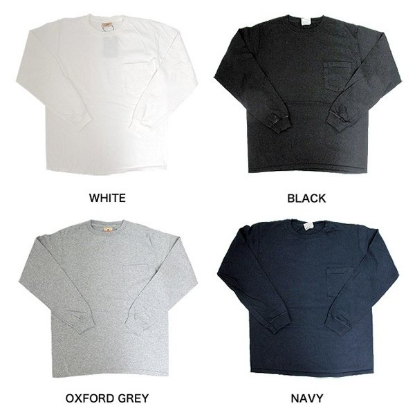 GOODWEAR グッドウェア 長袖 ポケット付きTシャツ 無地(メール便不可)|gb-int|03