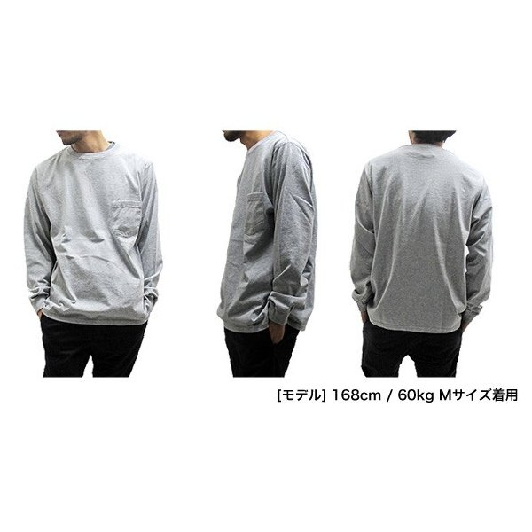 GOODWEAR グッドウェア 長袖 ポケット付きTシャツ 無地(メール便不可)|gb-int|06