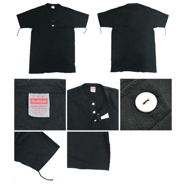 ヘルスニット Healthknit ヘンリーネック Tシャツ 半袖 906S (メール便対応)|gb-int|02