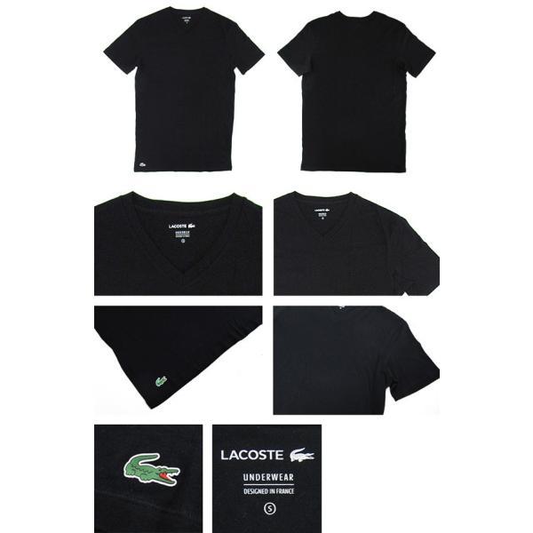 ラコステ LACOSTE 半袖 Tシャツ ワンポイント Vネック メンズ 男性用 (メール便対応可)|gb-int|02