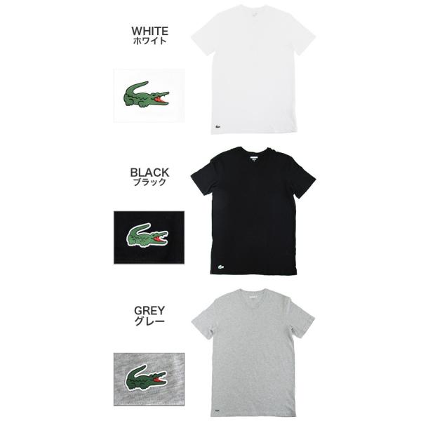 ラコステ LACOSTE 半袖 Tシャツ ワンポイント Vネック メンズ 男性用 (メール便対応可)|gb-int|03