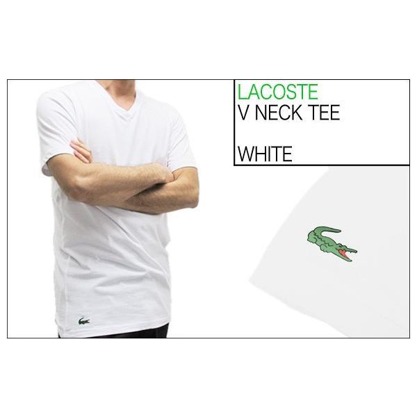 ラコステ LACOSTE 半袖 Tシャツ ワンポイント Vネック メンズ 男性用 (メール便対応可)|gb-int|05