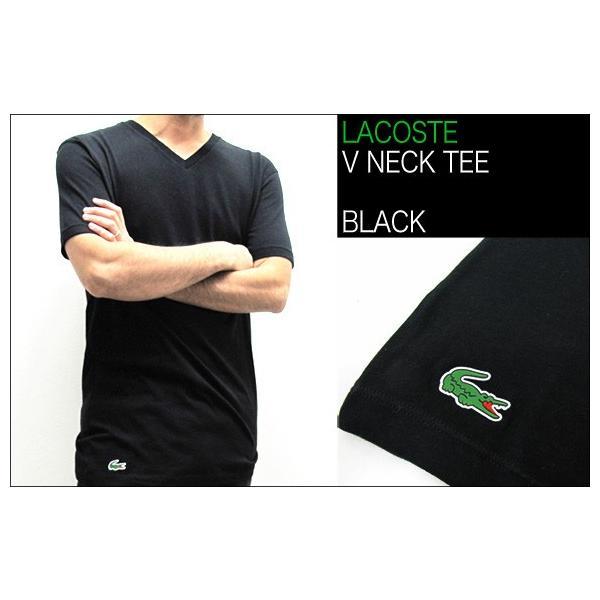 ラコステ LACOSTE 半袖 Tシャツ ワンポイント Vネック メンズ 男性用 (メール便対応可)|gb-int|06