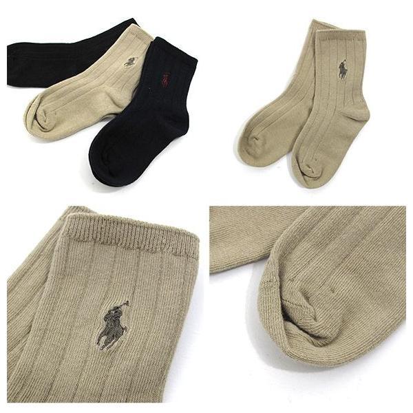 ラルフローレン POLO Ralph Lauren キッズ ハイソックス 靴下 3足セット B61000 (メール便対応)|gb-int|02