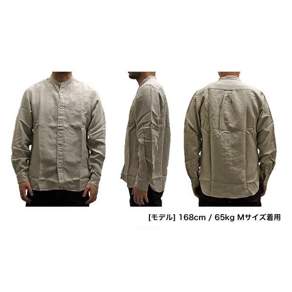 SONTAKU ソンタク  891HD26457 FRENCH LINEN BAND COLLAR L/S SHIRT フレンチリネン バンドカラー 長袖シャツ(メール便不可)|gb-int|04
