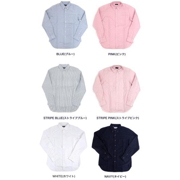ソンタク シャツ メンズ オックスフォード 長袖ボタンダウンシャツ HD99293|gb-int|03