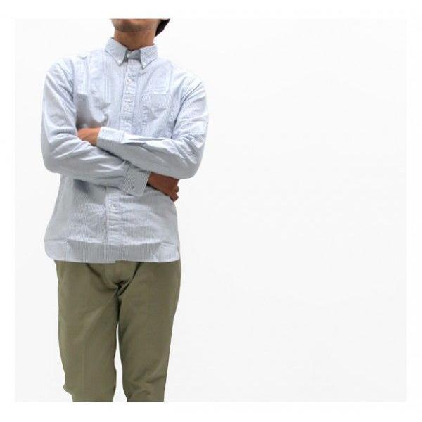 ソンタク シャツ メンズ オックスフォード 長袖ボタンダウンシャツ HD99293|gb-int|04