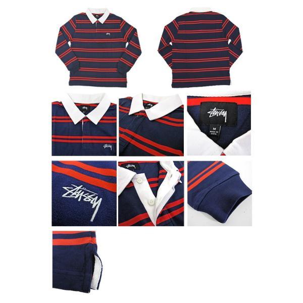 STUSSY ステューシー ラガーシャツ 1140097 DESMOND STRIPE LS RUGBY (メール便不可) gb-int 02