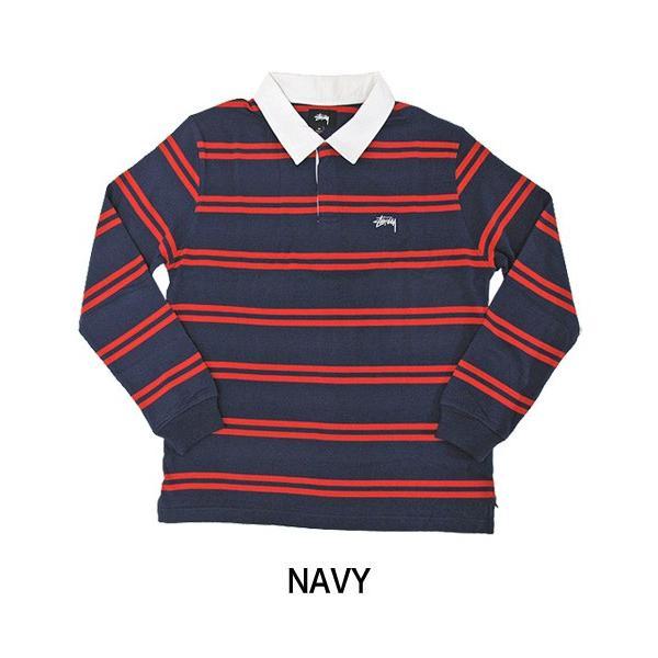 STUSSY ステューシー ラガーシャツ 1140097 DESMOND STRIPE LS RUGBY (メール便不可) gb-int 03
