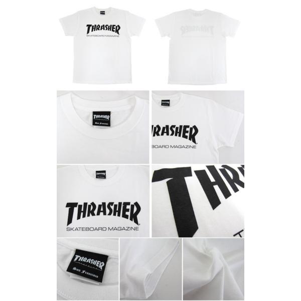 1点までメール便送料無料 THRASHER スラッシャー 半袖 マグロゴ Tシャツ メンズ TH8101-F TH8101|gb-int|02