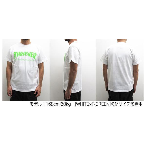 1点までメール便送料無料 THRASHER スラッシャー 半袖 マグロゴ Tシャツ メンズ TH8101-F TH8101|gb-int|05