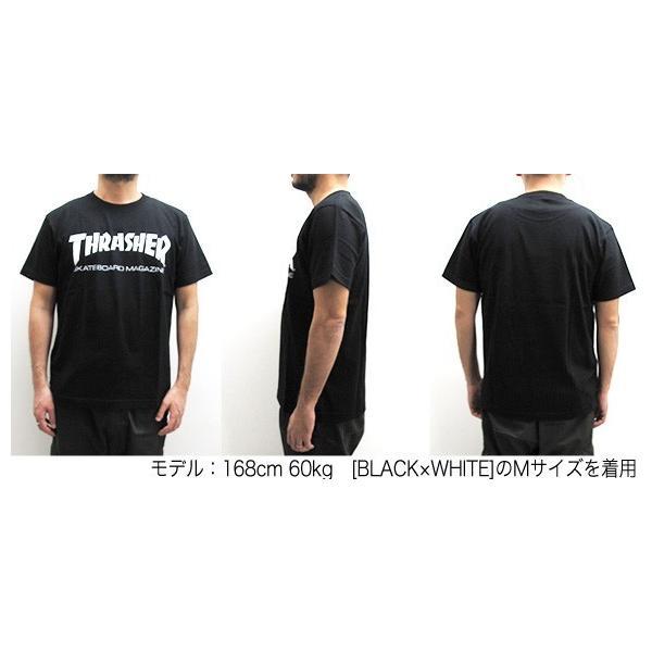 1点までメール便送料無料 THRASHER スラッシャー 半袖 マグロゴ Tシャツ メンズ TH8101-F TH8101|gb-int|06