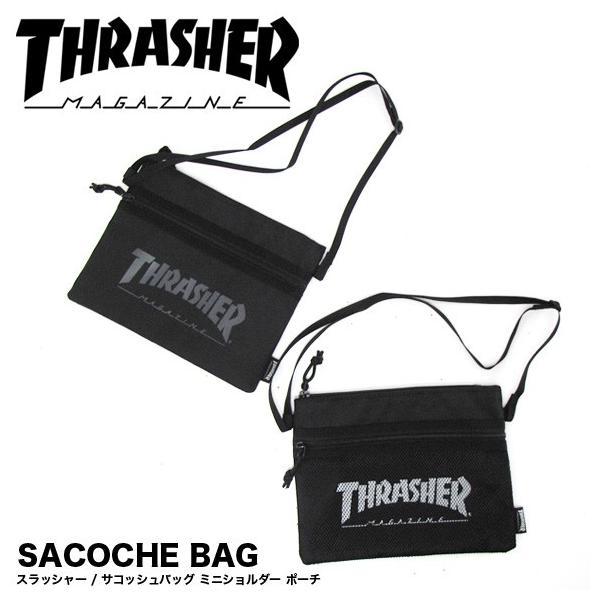 1点までメール便送料無料 スラッシャー THRASHER バッグ サコッシュ サコッシュバッグ ショルダーバッグ ミニ THRSG114|gb-int