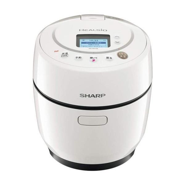 シャープ SHARP ヘルシオ ホットクック 1.0L 無水鍋 自動調理 無線LAN対応 ホワイト KN-HW10E-W|gbft-online