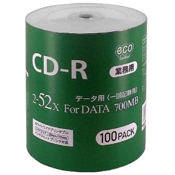 MAG-LAB HI-DISC CD-R 700MB 100枚 シュリンクecoパック 52倍速 CR80GP100_BULK