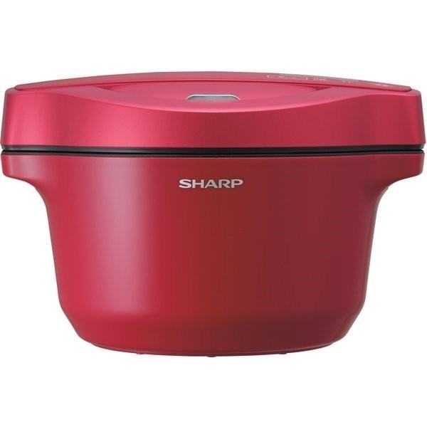 シャープ SHARP ヘルシオ ホットクック 1.6L 水なし自動調理鍋 AIoT対応 レッド KN-HW16D-R|gbft