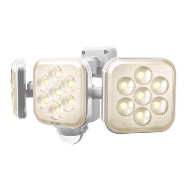 ムサシ MUSASHI センサーライト 8W×3灯フリーアーム式LEDセンサーライト 電球色 ホワイト LED-AC3025
