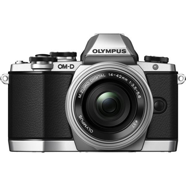OLYMPUS OM-D E-M10 14-42mm ミラーレス一眼カメラ EZレンズキット シルバー