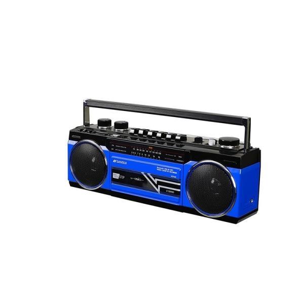 SANSUI Bluetooth搭載ラジカセ USB/SDカードMP3再生対応 SCR-B2(BL)|gbft|02
