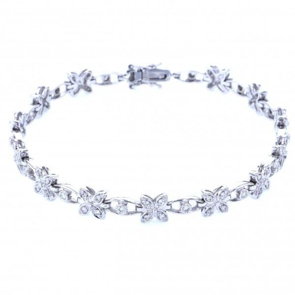 ユキザキセレクトジュエリー ブレスレット ホワイトゴールド ダイヤモンド 花 レディース ジュエリー 新品