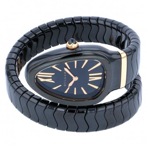 ブルガリ セルペンティ SPC35BCBC.1T ブラック文字盤 レディース 腕時計 新品