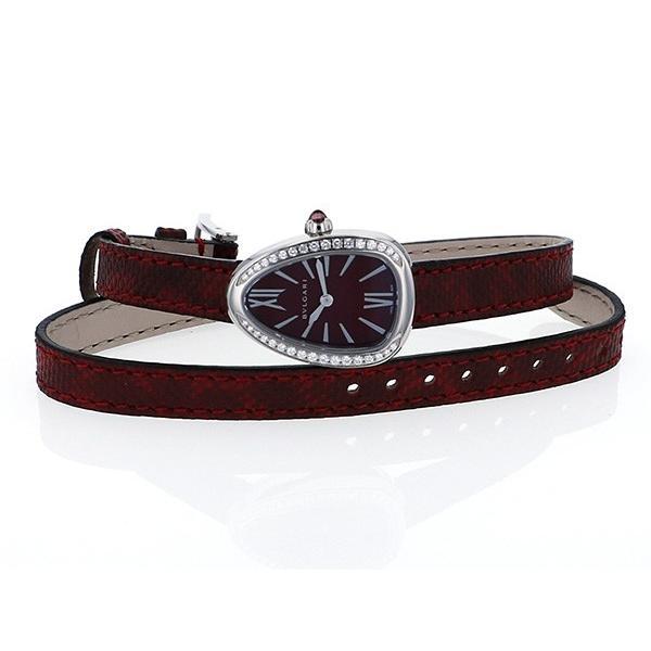 ブルガリ セルペンティ SPS27C9SDL レッド文字盤 レディース 腕時計 新品