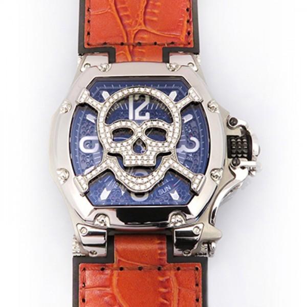 アクアノウティックAQUANAUTICキングトノースカルマスクダイヤTN3H00WSKLJ21ブラック文字盤新品腕時計メンズ