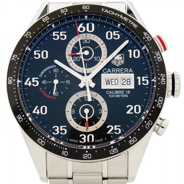 タグ・ホイヤー カレラ タキメータークロノ デイデイト CV2A10.BA0796 ブラック文字盤 メンズ 腕時計 中古|gc-yukizaki