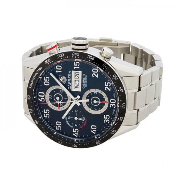 タグ・ホイヤー カレラ タキメータークロノ デイデイト CV2A10.BA0796 ブラック文字盤 メンズ 腕時計 中古|gc-yukizaki|02