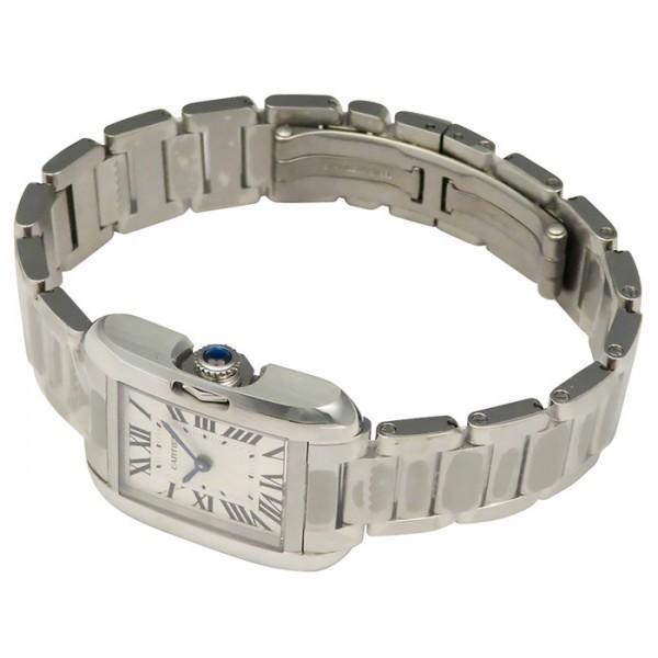 カルティエ タンク アングレーズ SM W5310022 シルバー文字盤 レディース 腕時計 新品